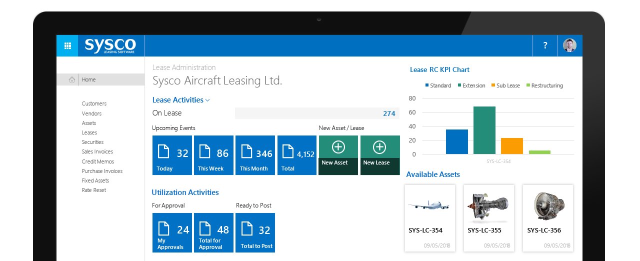Aircraft Lease Management Software - Manage Aircraft Leases with Sysco Leasing Software
