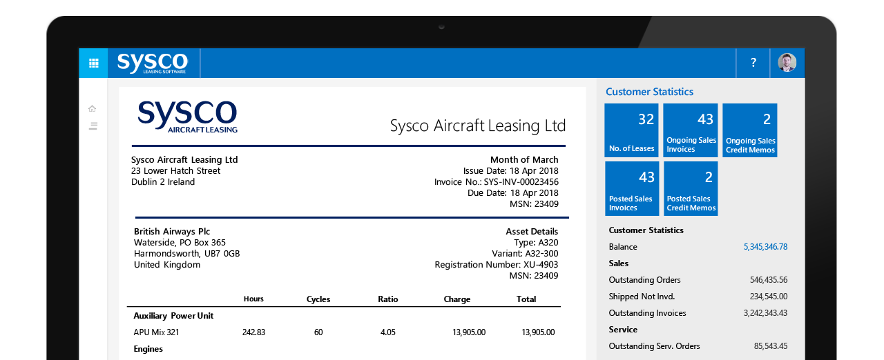 Aircraft Leasing Invoice Management
