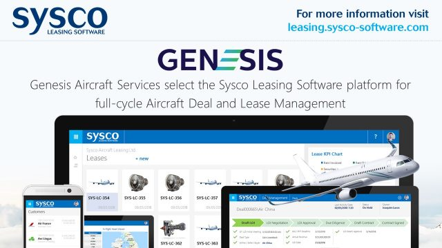 Genesis Aircraft Services select the Sysco Leasing Software