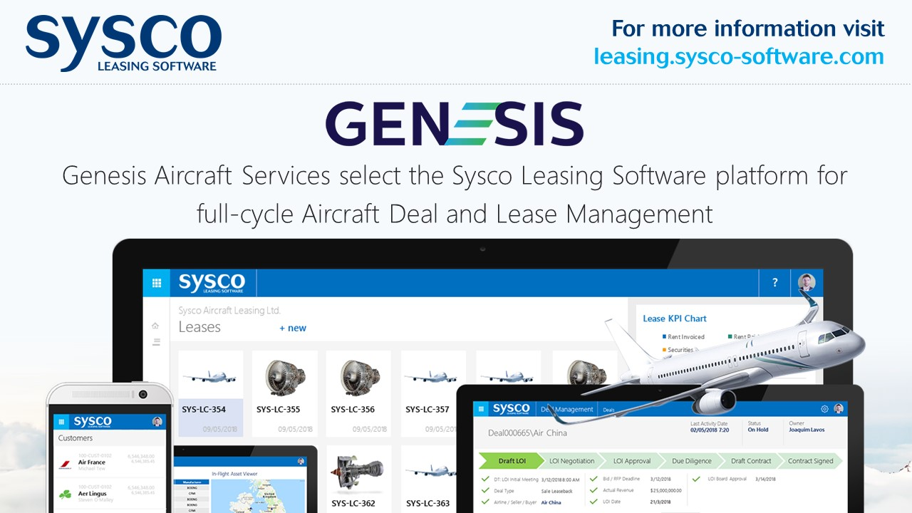 Genesis Aircraft Services choose Sysco Leasing Software for Aircraft Deals and Lease Management